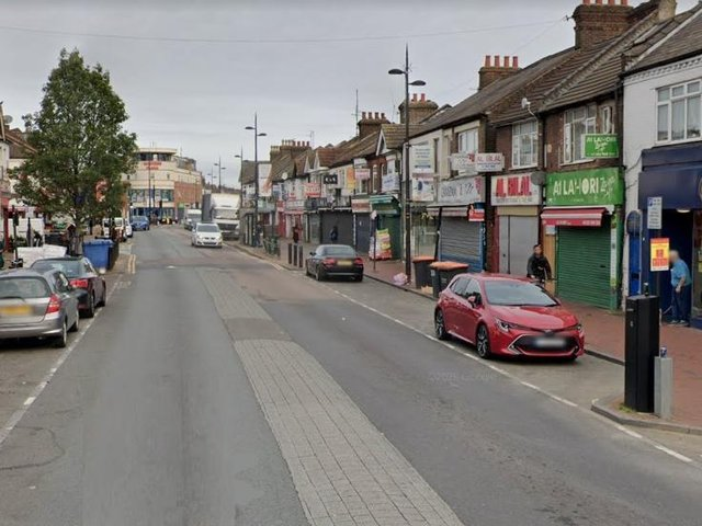 The incident took place in Dunstable Road on Wednesday night