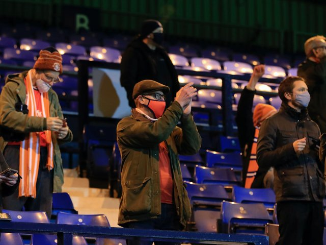 Luton were allowed to welcome fans back for two games last season