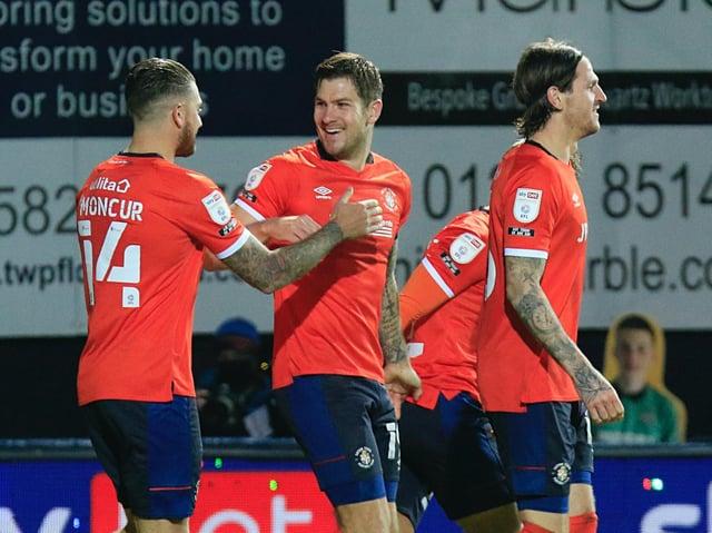 Luton striker James Collins