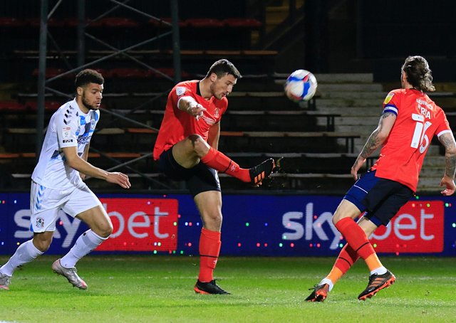 Matty Pearson in action for the Hatters