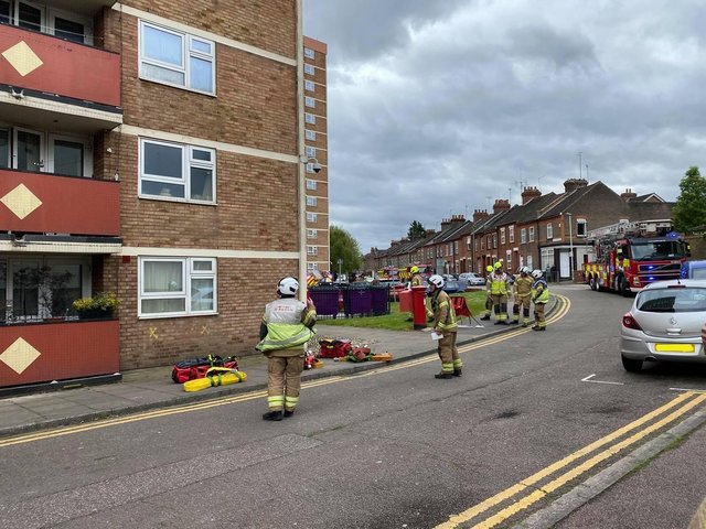 Firefighters at Dorset Court