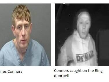 Miles Connors was caught on the Ring doorbell