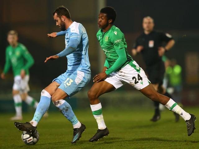 Josh Neufville in action for Yeovil Town