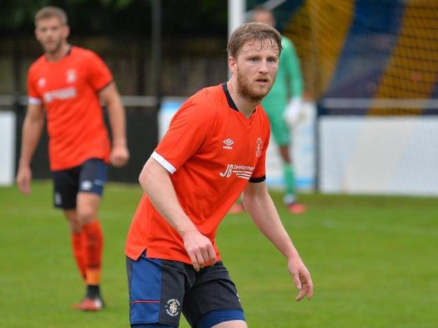 Eunan O'Kane in action for Luton during their pre-season campaign