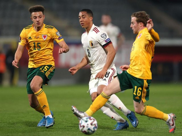 Joe Morrell in action for his country