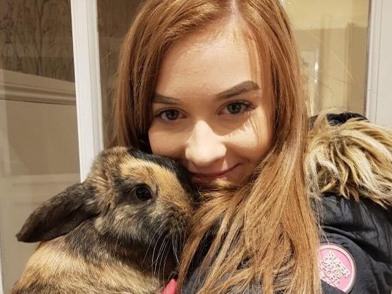 Megan with Yogi