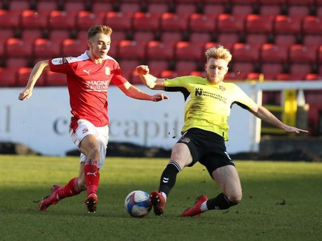 Scott Twine in action for Swindon last season