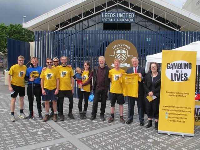 30 walkers whose lives have been impacted by gambling will pass through Luton tomorrow (Saturday)