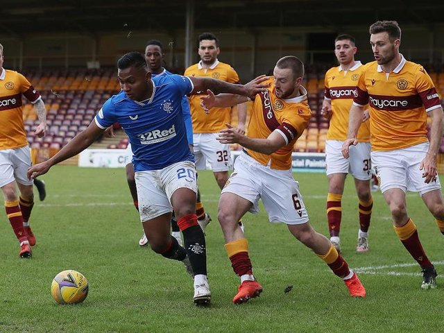 Midfielder Allan Campbell in action for Motherwell last season