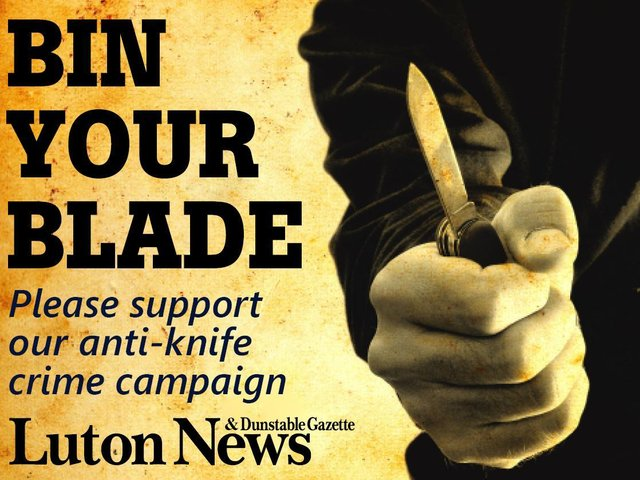 Bin Your Blade: If you've been affected by knife crime please share your story, of if you're trying to make a difference in the community get in touch. Email editorial@lutonnews.co.uk or call 07803 506099.