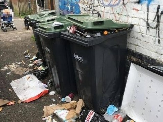 Fly-tipped rubbish in Luton