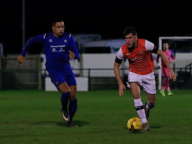 Corey Panter in action for the Hatters' development side