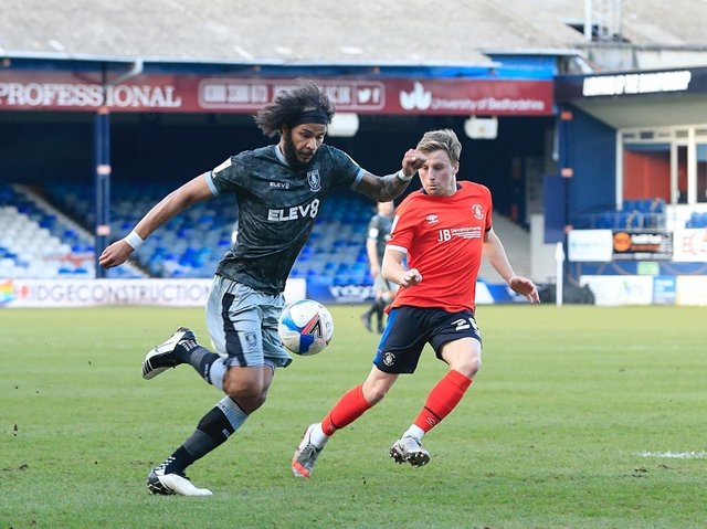 Izzy Brown in action against Luton for Sheffield Wednesday last season