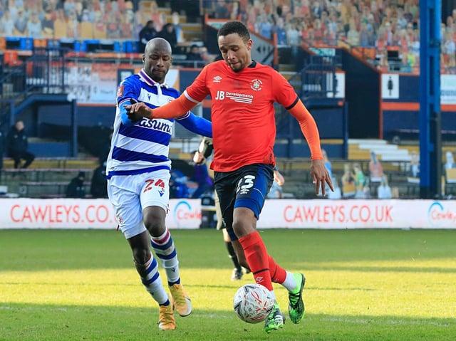 Ex-Luton defender Brendan Galloway in action against Reading last season