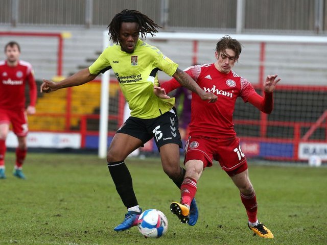 Peter Kioso in action for Northampton Town last season