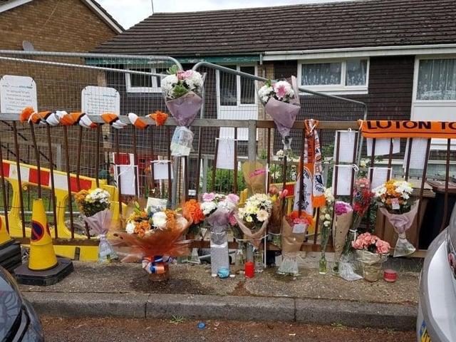 Tributes were left at the scene on Devon Road