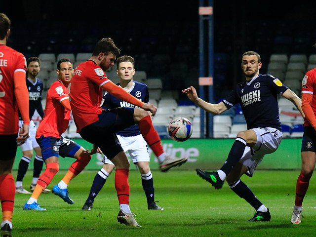 Former Town midfielder Ryan Tunnicliffe in action against his old club Millwall