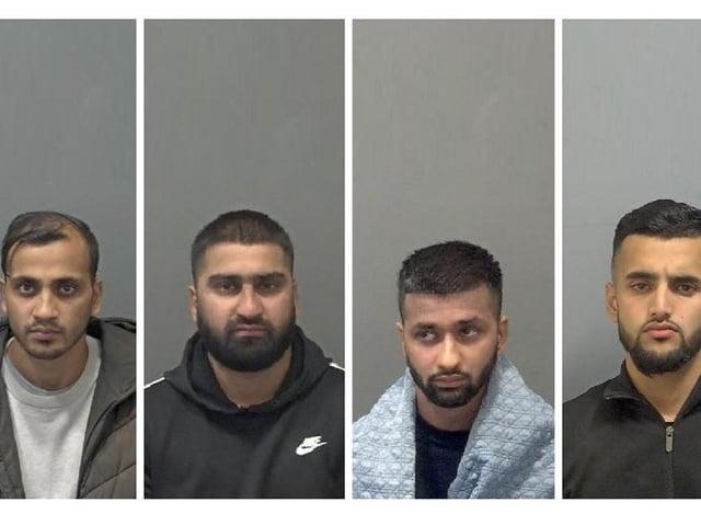 Umar Ali, 28, Abu Ali, 25, and Yusef Ali, 21, and Anwaar Chaudhary, 22