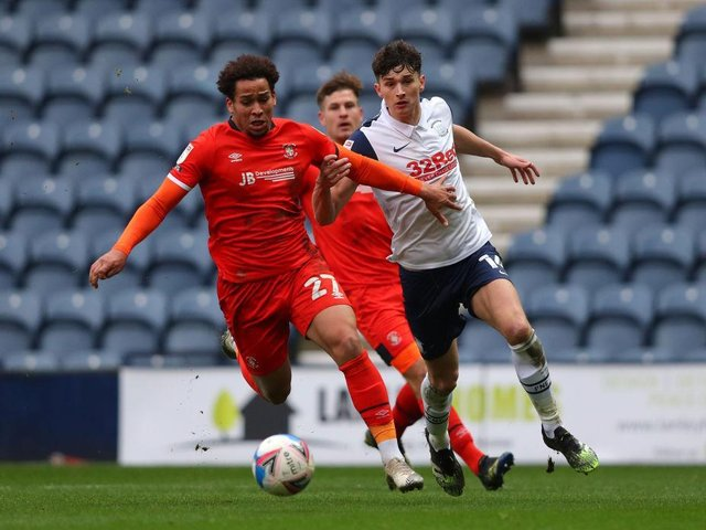Sam Nombe in a rare outing for the Hatters last season