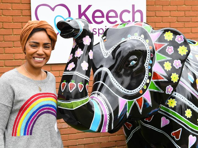 Nadiya and her elephant, Mandala Party (C) Keech Hospice Care