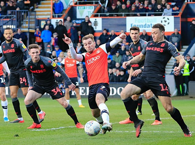 Callum McManaman in action for the Hatters
