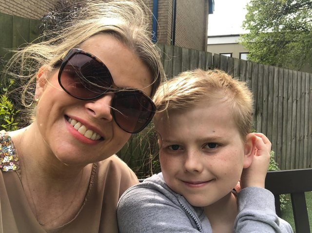 Louise Fox is fundraising £500,000 for son George to have pioneering treatment abroad