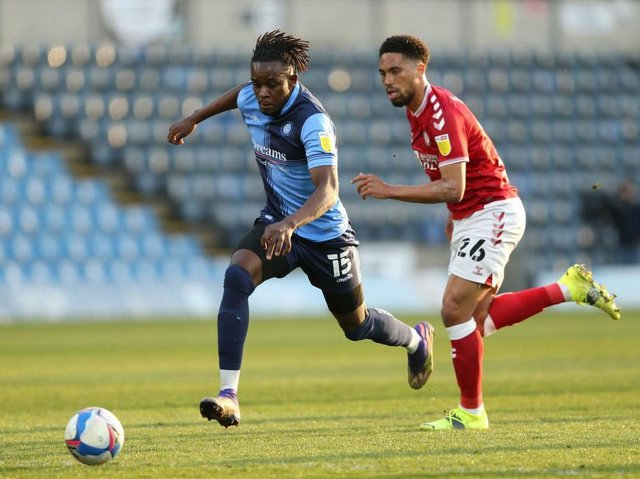 Admiral Muskwe sprints forward for Wycombe last season